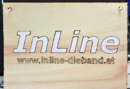 InLine Band Logo Holz